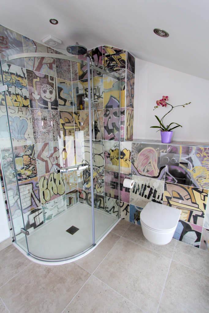 How To Tile A Floor >> Graffiti Tiles! | Sykes Tiles + Bathrooms Sykes Tiles